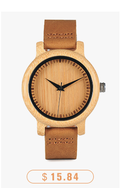 CnwinTech Bamboo Wood Watches Men Casual Clock - BOBO BIRD 9