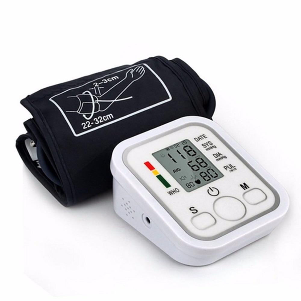 Arm Type Electric Voice Tonometer Meter Health Care 99 Memory Blood Pressure Monitor Pulse Oximeter Household Sphygmomanometer 10