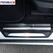 Stainless Steel Inside/Outside Door Sill Scuff Threshold Plate For BMW X1 F48 2016 2017 Car Accessories and Parts