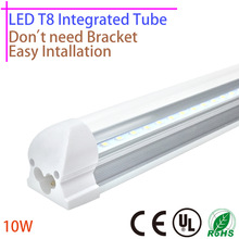 LED T8 Integrated Tube 5W 320mm 10W 600mm 110v 220v 85-265v Lamp Clear Milky Cover Free Shipping 2ft White/Warmwhite