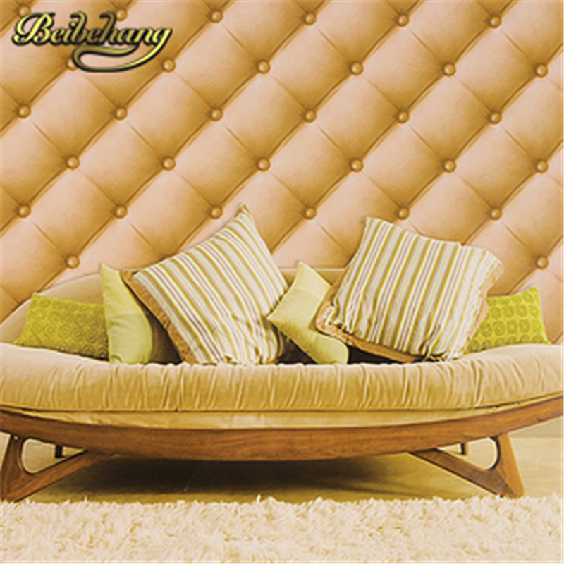 beibehang PVC Wallpaper roll Soft Bag Faux Leather TV Stereo Sofa Background Decoration papel de parede 3D Wall Paper roll<br>