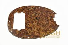 wholesale  Bass Pickguard MusicMan Stingray MM4 Scratch plate for Music Man MM2 4 String Guitar Parts Tiger Stripe