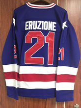 1980 Miracle On Ice Team USA Mike Eruzione 21 Hockey Jersey Blue All stitched  S M L XL XXL XXXL