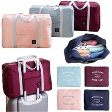 Multifunction large capacity casual folding waterproof luggage storage bags suitcase travel pouch handbag organizer tote bag