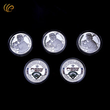 Wholesale1959 MLB Baseball Silver Plated Commemorated Coin JOSE PAGAN Design Round Metal Coin with Plastic Case for Souvenir