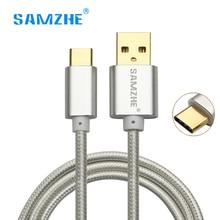 SAMZHE Nylon USB type C cable Fast Charging Data Cable USB 3.1 Type-C Cable 0.5m 1m 2m Xiaomi huawei samsung Nexus OnePlus