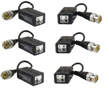 STARAUDIO 3Pairs 1CH Black HD Passive Video Balun Analog AHD, HD-TVI, HD-CVI,Push-In Terminal SHD-213B