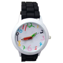 New Pencil Pointer Cartoon Watches Silicone girls kids quartz wristwatch women child mujer watches Gift For Women Men Students(China)