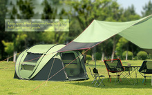 280x200x120cm big tent 4 person automatic camping tent quick open large pop up family picnic camping tent