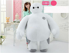 2016 Hot Item! The Biggest Big Hero 6 Huge 59'' / 150cm Stuffed Soft Plush Lovely Baymax Toy, Free Shipping(China)