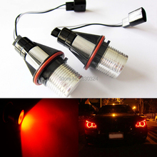 2 Pieces(1 Set) 2*5W 10W CREE Chip LED Marker Angel Eyes Red for BMW E39 E53 X5 X3 E60 E61 E63 E64 E65 E66 E87(China)