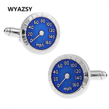 Hot Sale Worldwide Fashion Cufflinks Men Blues Car Motor Tachometer Sleeve nail Zinc Alloy Suits Wedding Cufflinks For Mens Gift(China)