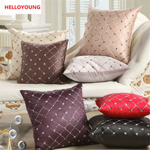 BZ010 Luxury Cushion Cover Pillow Case Throw Pillow Letter Cushion Design English Words Polyester Cotton Car Seat Decorative