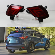 Car Flashing For Mazda CX-5 CX5 CX 5 2013 2014 2015 2016 Car LED Tail Light Rear Bumper Light Rear Fog Lamp Brake Light(China)