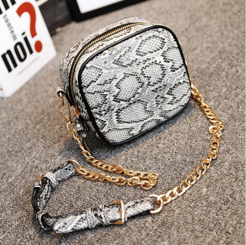 2017 Fashion Women Messenger Bag Snake Skin Pu Leather Chain Snake Skin Summer Style Female Designer Handbag<br><br>Aliexpress