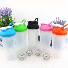 Sports Protein Powder Shaker Bottle for Protein Portable Water Bottle Milk Shaker Mixer Fitness Plastic BPA Free 600ml H1077(China)