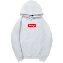 2017 100% Cotton 21 Savage Street Wear Woolcotton Suprem Hoodies Parody No Heart X Savage Hoodie Sweatshirt Men Women Hip Hop