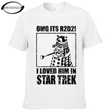 2017 Mens Fashion OMG It's R2D2 T Shirt R2D2 Dalek Star Wars Dr Who Star Trek Design Casual Men Hipster Tops Cool Tees