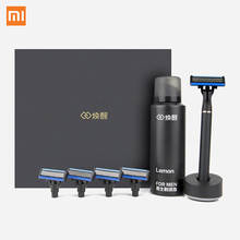 Buy Xiaomi New Brand Men Women Shaver Razor Lemon Flavor 8 1 Sets Magnetic Replace Clip Xiaomi Smart Home for $22.49 in AliExpress store
