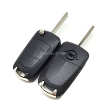 Car key for Opel Vectra C Astra H Corsa D Zafira 2 button replacement remote control key case fob with logo