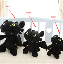 30cm The trainer master 2 Toothless Night Fury dragon plush toy gift for children baby toy free shipping