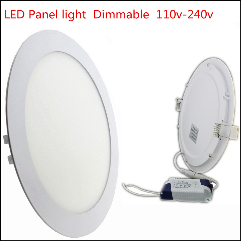 1X Ultra Thin Led Panel light 3w 4w 6w 9w 12w 15w 18w 24w Round LED Ceiling Recessed Light Dimmable AC110-240V LED Panel bulb(China)
