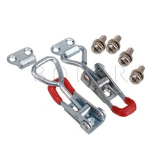 BQLZR Drawer Closet Chest Hardware Metal Adjustable Toggle Latch Catch Lock L Size
