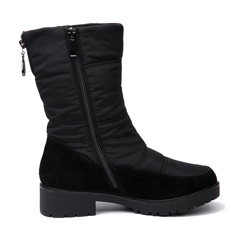 AIMEIGAO 2018 New Snow Boots For Women Winter Fur Warm Boots Waterproof Thick Bottom Flats Comfortable Heels Shoes
