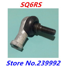 4pcs SQ6 SQ6RS M6X1.0 female metric threaded Winding Ball Joint right hand tie rod end bearing