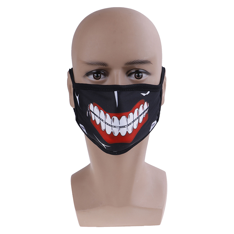 1PCS Women Men Anime Emotiction Mouth-muffle Anti-Dust Face Mask Kawaii Cute Unisex Safety Mouth Mask