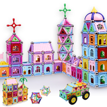 High quality new castle design 220PCS Child Early magnetic stick toy Education block figure Amazing Magnetic set