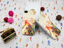Hard White Case Cover for iPhone 4 4s RAINBOW PARROT AUSSIE AUSTRALIA Style