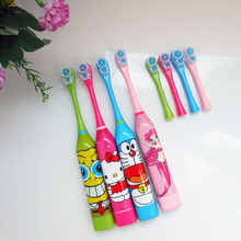 Children Cartoon Pattern Doraemon Mermaid Electric Toothbrush Oral Hygiene Electric Massage Teeth Care Kids Toothbrush Cleanser