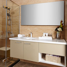 New Design Wholesale Acrylic Semi-open Chinese Bathroom Vanity OP14-031(China)