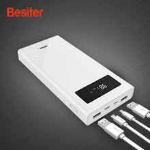 Besiter Quick Charge Power Bank 20000mAh Mobile Power Batteries Type-C Two-way QC3.0 Fast Charge Dual USB Phone Charger Bateria