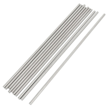 10 Pcs RC Airplane Model Part Stainless Steel Round Rods 3mm x 150mm