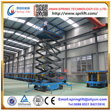 SPRING mobile scissor lift platform hydraulic lift tables use for aerial work 4-20m lift height 2017