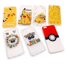 New Pikachue Child TPU Cell Phone Cases For iPhone 5 5s SE 6 6s 6plus 6splus Pokemons Case Kids Shockproof Transparent Cover
