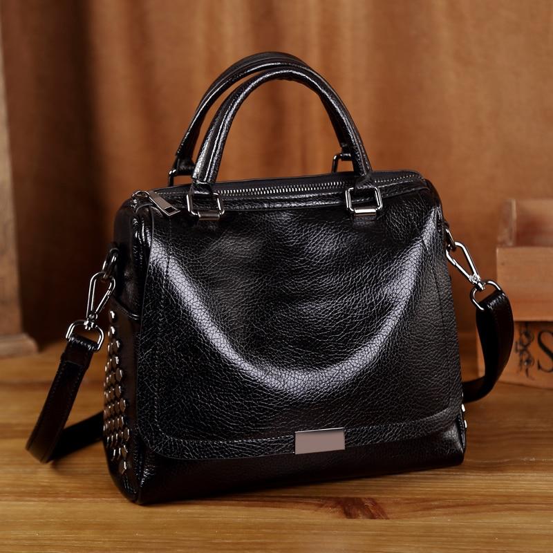 Luxury Brand 2017 Women Bags Fashion Womens Genuine Leather Handbags Casual chain Female Shoulder Chain Bags dames tassen T12<br>