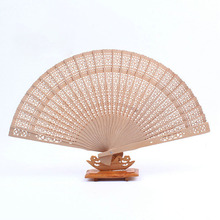 100pcs Personalize Wood Hand Folding Fans+Customized Name and Date by Laser/Printing Wedding Gift Favor ZA4452(China)