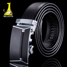 [MILUOTA] Fashion designer belts for men cinto masculino genuine leather automatic buckle belt brand for business WN002