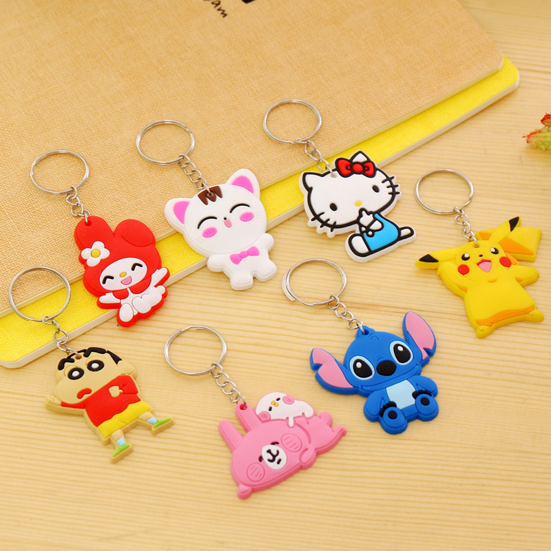 1PCS-Lovely-Animal-Cartoon-The-Avengers-Hello-Kitty-Silicone-Key-ring-Keychain-Backpack-Accessories-Key-chains (3)