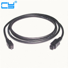 1.8m/180cm Black 9 PIN / 4 PIN BETA FireWire 800 - FireWire 400 9-4 Cable IEEE 1394B(China)
