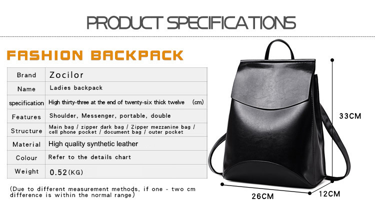 Fashionable Women's Leather Backpack 2