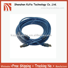 Free Shipping+High quality+USB A Male to B Male USB Printer Cable Cord 33 Feet (10 m) Blue