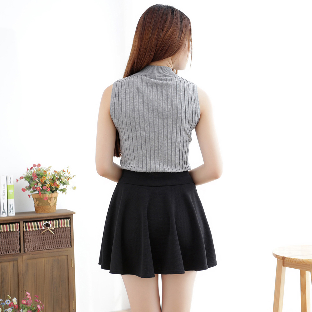 Black pleated school skirt fashion 31