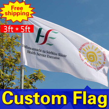 3ft*5ft Freeshipping Custom Single Sided Flag Any size Any Color Any Quality Any Logo Personal FlagsSport Flags Corporate Flags(China)