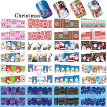 48 Sheets 2017 Christmas Designs Snowflakes Xmas Tips Nail Art Sticker Sets Decorations Watermark for New Year BN205-252