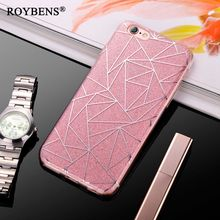 2017 Luxury Case For iPhone 6 Bling Glitter Sandstone Silicone Soft Case For iPhone 6S 7 Plus 5S SE Transparent Clear TPU Cover(China)