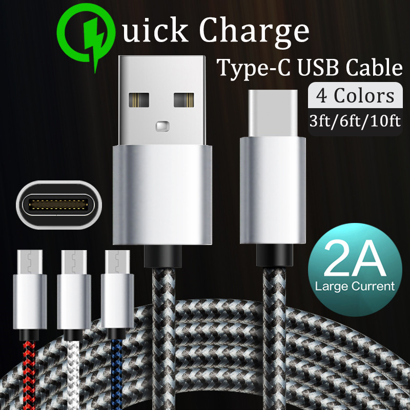DORWEE USB Type C Cable Samsung Galaxy S9 USB Cable Type C Fast Charging Data Cable Xiaomi Mi6 Nintendo Switch USB-C